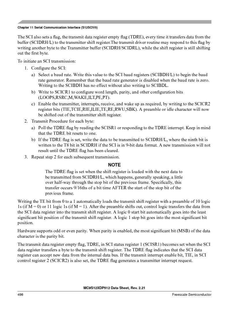 MC9S12XD128MAL ,Freescale Semiconductor厂商,MCU 16BIT 128K FLASH 112-LQFP, MC9S12XD128MAL datasheet预览  第498页