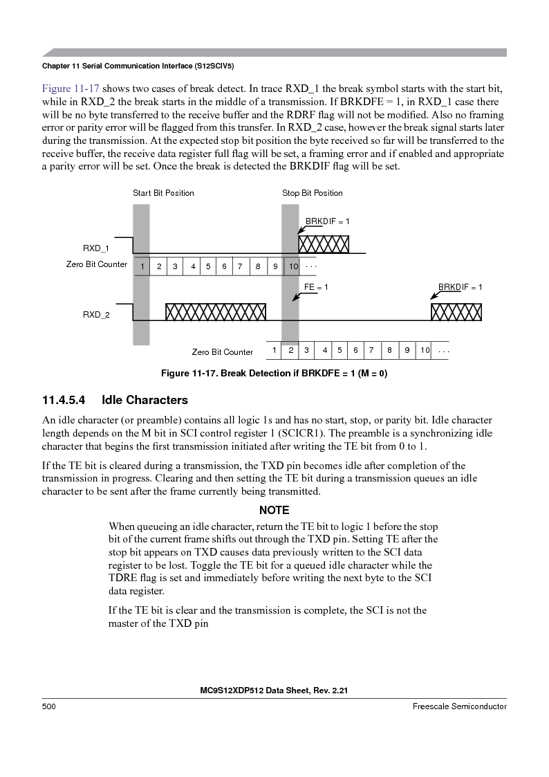 MC9S12XD128MAL ,Freescale Semiconductor厂商,MCU 16BIT 128K FLASH 112-LQFP, MC9S12XD128MAL datasheet预览  第500页