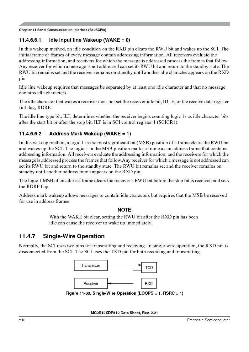 MC9S12XD128MAL ,Freescale Semiconductor厂商,MCU 16BIT 128K FLASH 112-LQFP, MC9S12XD128MAL datasheet预览  第510页