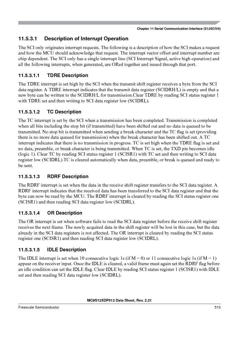MC9S12XD128MAL ,Freescale Semiconductor厂商,MCU 16BIT 128K FLASH 112-LQFP, MC9S12XD128MAL datasheet预览  第513页