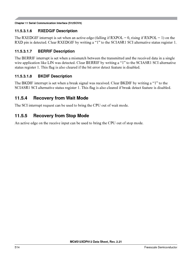 MC9S12XD128MAL ,Freescale Semiconductor厂商,MCU 16BIT 128K FLASH 112-LQFP, MC9S12XD128MAL datasheet预览  第514页