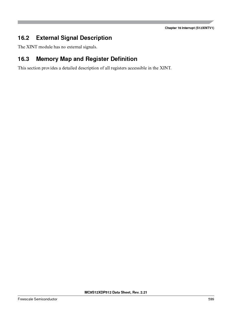 MC9S12XD128MAL ,Freescale Semiconductor厂商,MCU 16BIT 128K FLASH 112-LQFP, MC9S12XD128MAL datasheet预览  第599页
