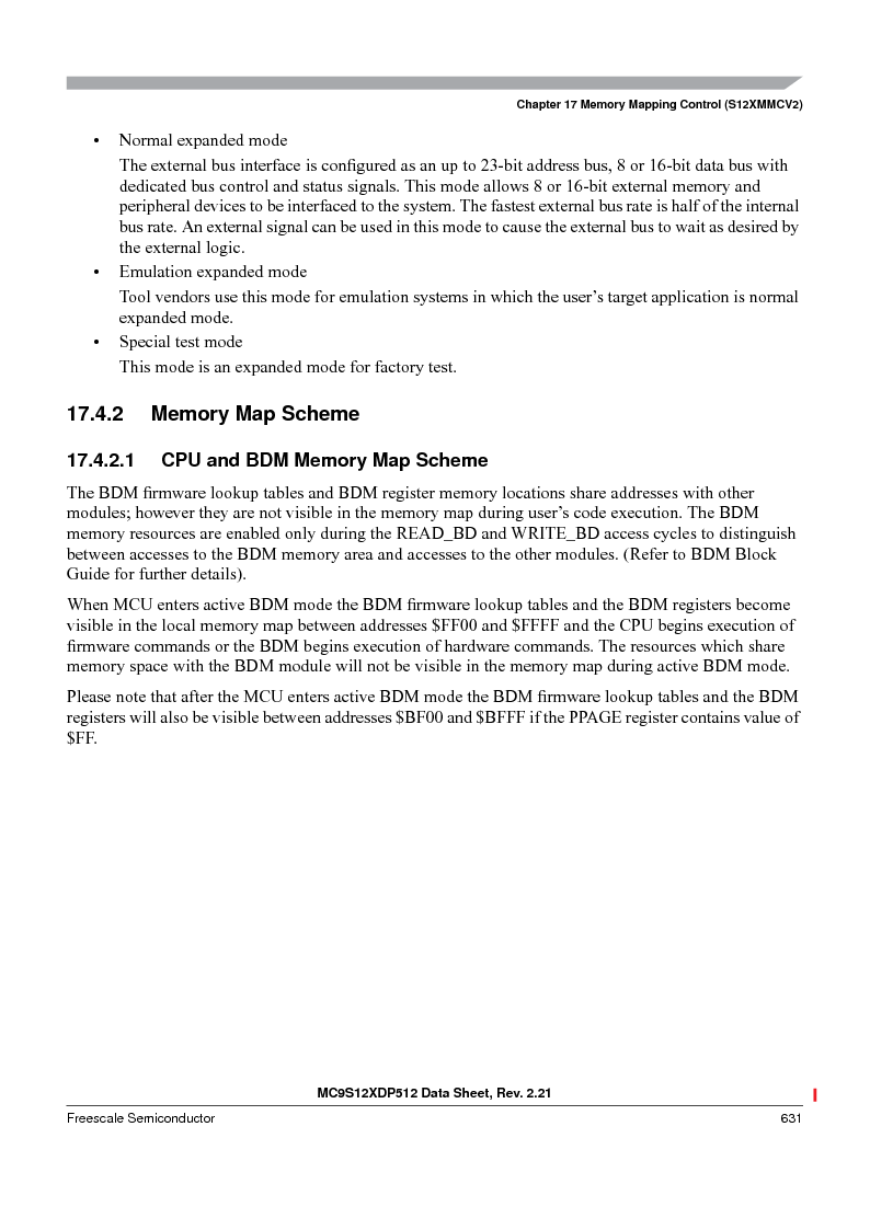 MC9S12XD128MAL ,Freescale Semiconductor厂商,MCU 16BIT 128K FLASH 112-LQFP, MC9S12XD128MAL datasheet预览  第631页