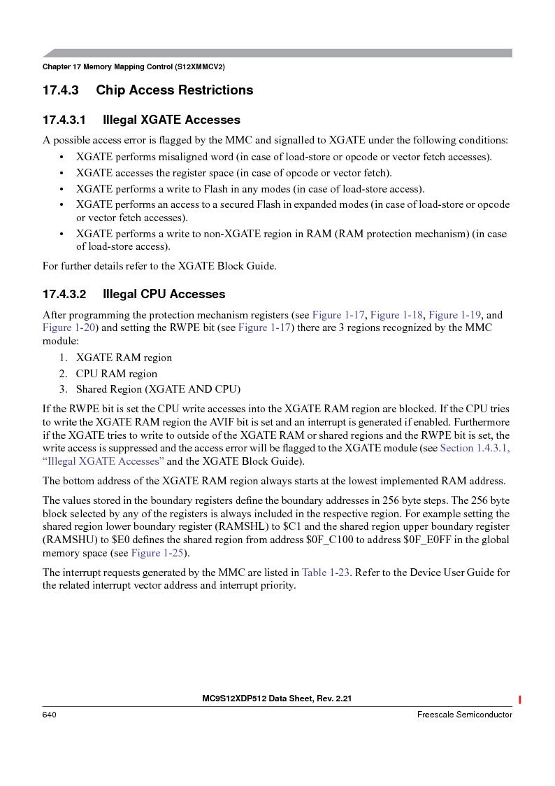 MC9S12XD128MAL ,Freescale Semiconductor厂商,MCU 16BIT 128K FLASH 112-LQFP, MC9S12XD128MAL datasheet预览  第640页