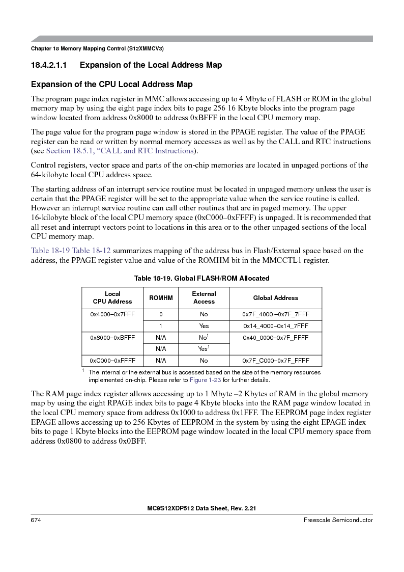 MC9S12XD128MAL ,Freescale Semiconductor厂商,MCU 16BIT 128K FLASH 112-LQFP, MC9S12XD128MAL datasheet预览  第674页
