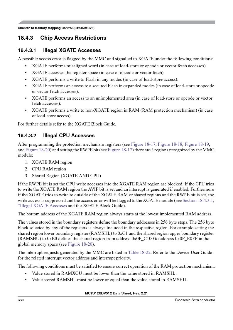 MC9S12XD128MAL ,Freescale Semiconductor厂商,MCU 16BIT 128K FLASH 112-LQFP, MC9S12XD128MAL datasheet预览  第680页
