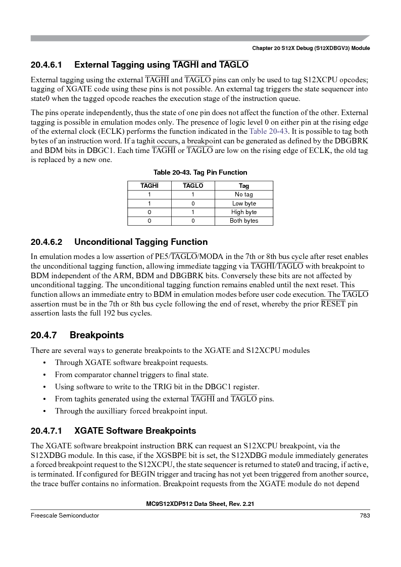 MC9S12XD128MAL ,Freescale Semiconductor厂商,MCU 16BIT 128K FLASH 112-LQFP, MC9S12XD128MAL datasheet预览  第781页