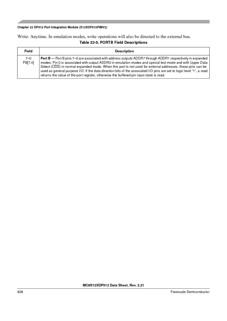 MC9S12XD128MAL ,Freescale Semiconductor厂商,MCU 16BIT 128K FLASH 112-LQFP, MC9S12XD128MAL datasheet预览  第826页