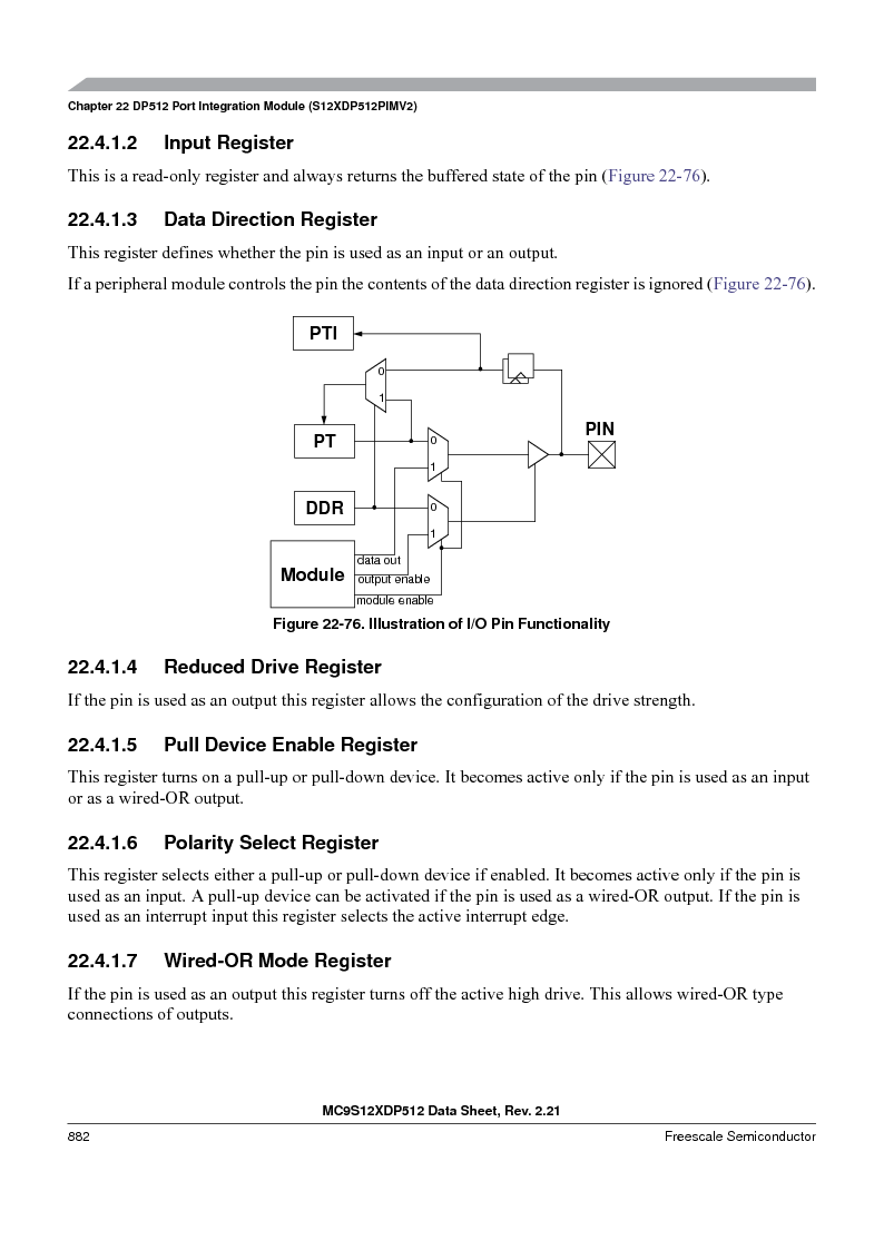 MC9S12XD128MAL ,Freescale Semiconductor厂商,MCU 16BIT 128K FLASH 112-LQFP, MC9S12XD128MAL datasheet预览  第880页