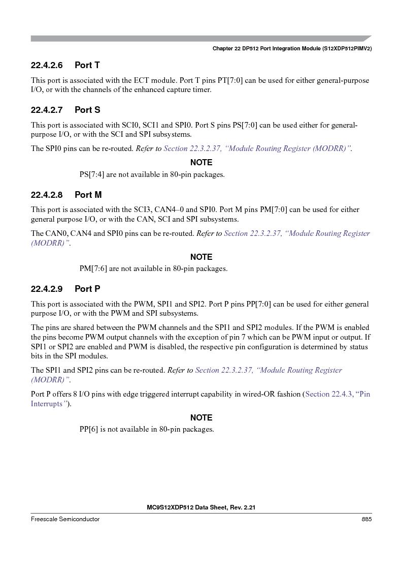 MC9S12XD128MAL ,Freescale Semiconductor厂商,MCU 16BIT 128K FLASH 112-LQFP, MC9S12XD128MAL datasheet预览  第883页