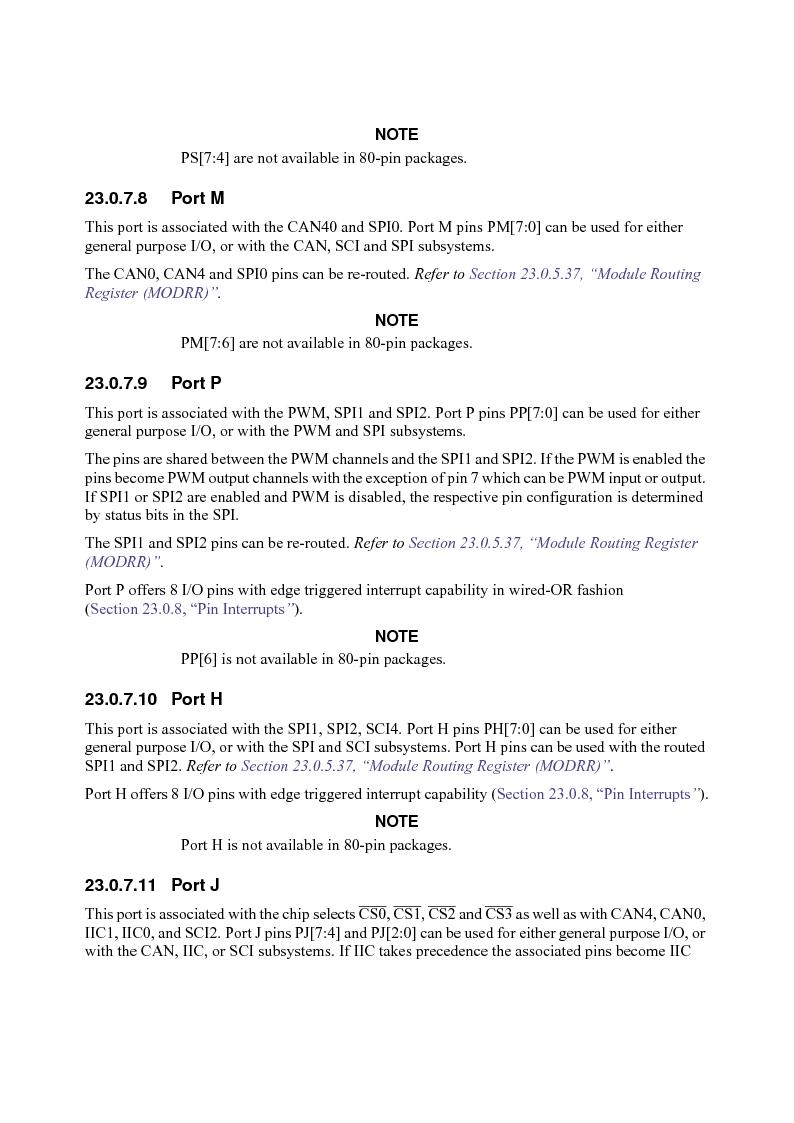 MC9S12XD128MAL ,Freescale Semiconductor厂商,MCU 16BIT 128K FLASH 112-LQFP, MC9S12XD128MAL datasheet预览  第965页