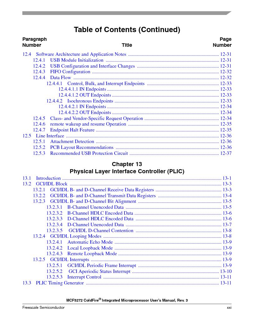 MCF5272VF66R2 ,Freescale Semiconductor厂商,IC MCU 32BIT 66MHZ 196-MAPBGA, MCF5272VF66R2 datasheet预览  第21页