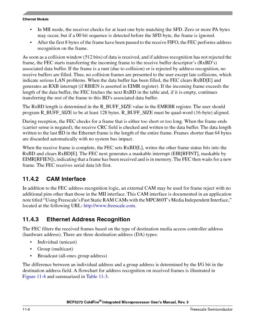 MCF5272VF66R2 ,Freescale Semiconductor厂商,IC MCU 32BIT 66MHZ 196-MAPBGA, MCF5272VF66R2 datasheet预览  第224页