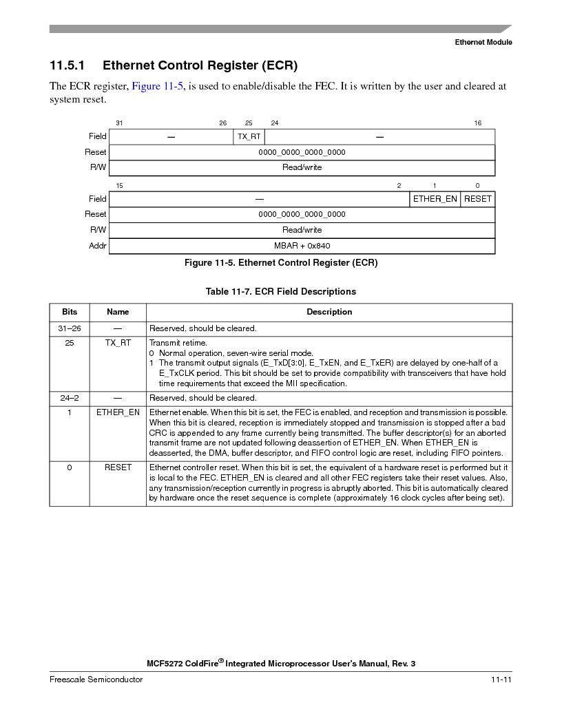 MCF5272VF66R2 ,Freescale Semiconductor厂商,IC MCU 32BIT 66MHZ 196-MAPBGA, MCF5272VF66R2 datasheet预览  第229页