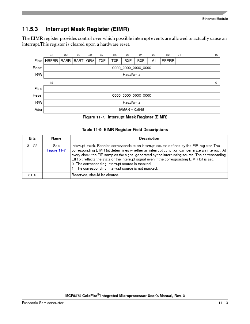 MCF5272VF66R2 ,Freescale Semiconductor厂商,IC MCU 32BIT 66MHZ 196-MAPBGA, MCF5272VF66R2 datasheet预览  第231页