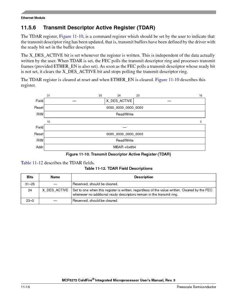 MCF5272VF66R2 ,Freescale Semiconductor厂商,IC MCU 32BIT 66MHZ 196-MAPBGA, MCF5272VF66R2 datasheet预览  第234页
