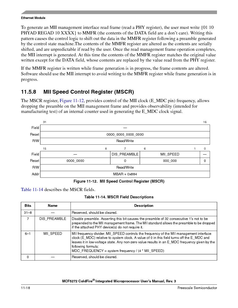 MCF5272VF66R2 ,Freescale Semiconductor厂商,IC MCU 32BIT 66MHZ 196-MAPBGA, MCF5272VF66R2 datasheet预览  第236页