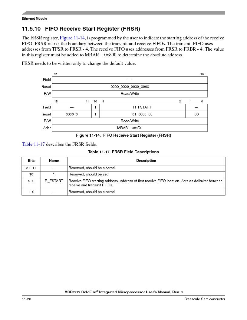 MCF5272VF66R2 ,Freescale Semiconductor厂商,IC MCU 32BIT 66MHZ 196-MAPBGA, MCF5272VF66R2 datasheet预览  第238页
