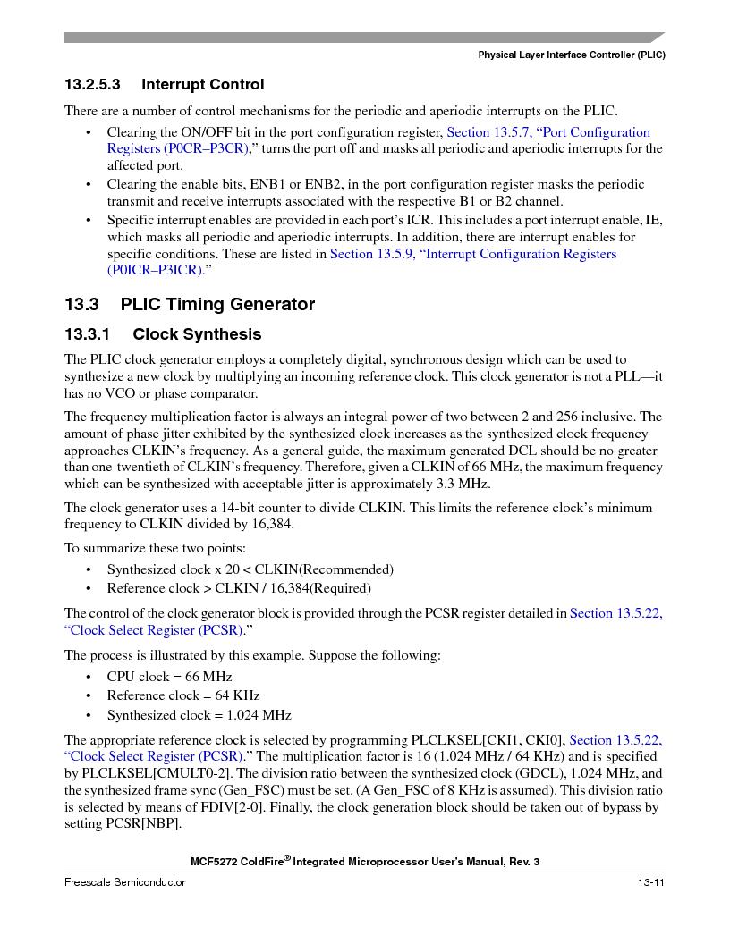 MCF5272VF66R2 ,Freescale Semiconductor厂商,IC MCU 32BIT 66MHZ 196-MAPBGA, MCF5272VF66R2 datasheet预览  第307页