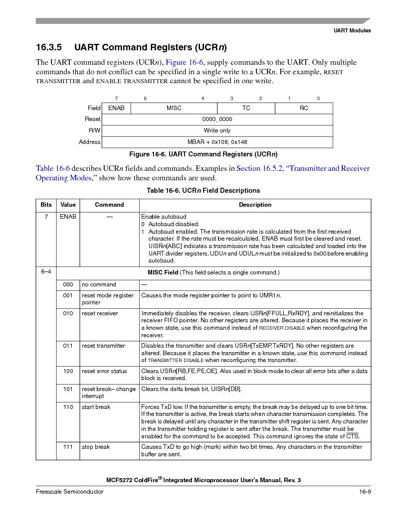 MCF5272VF66R2 ,Freescale Semiconductor厂商,IC MCU 32BIT 66MHZ 196-MAPBGA, MCF5272VF66R2 datasheet预览  第369页