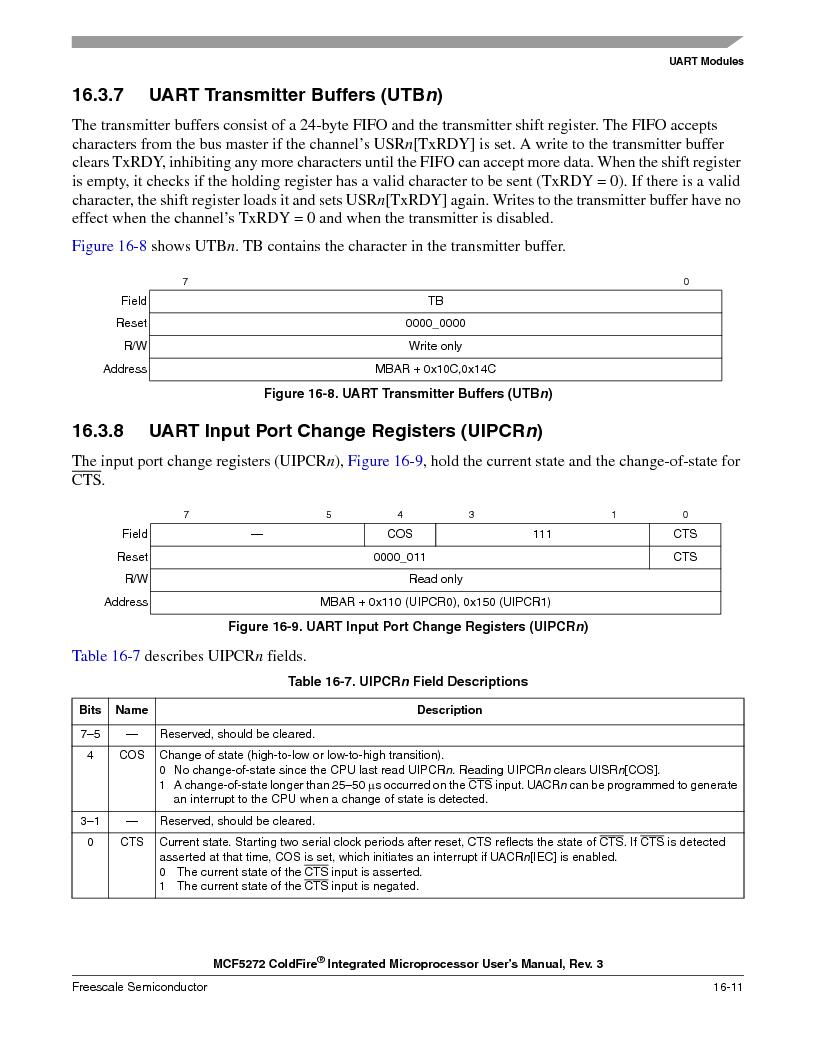 MCF5272VF66R2 ,Freescale Semiconductor厂商,IC MCU 32BIT 66MHZ 196-MAPBGA, MCF5272VF66R2 datasheet预览  第371页