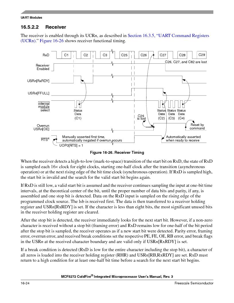 MCF5272VF66R2 ,Freescale Semiconductor厂商,IC MCU 32BIT 66MHZ 196-MAPBGA, MCF5272VF66R2 datasheet预览  第384页