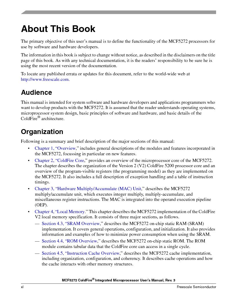MCF5272VF66R2 ,Freescale Semiconductor厂商,IC MCU 32BIT 66MHZ 196-MAPBGA, MCF5272VF66R2 datasheet预览  第40页