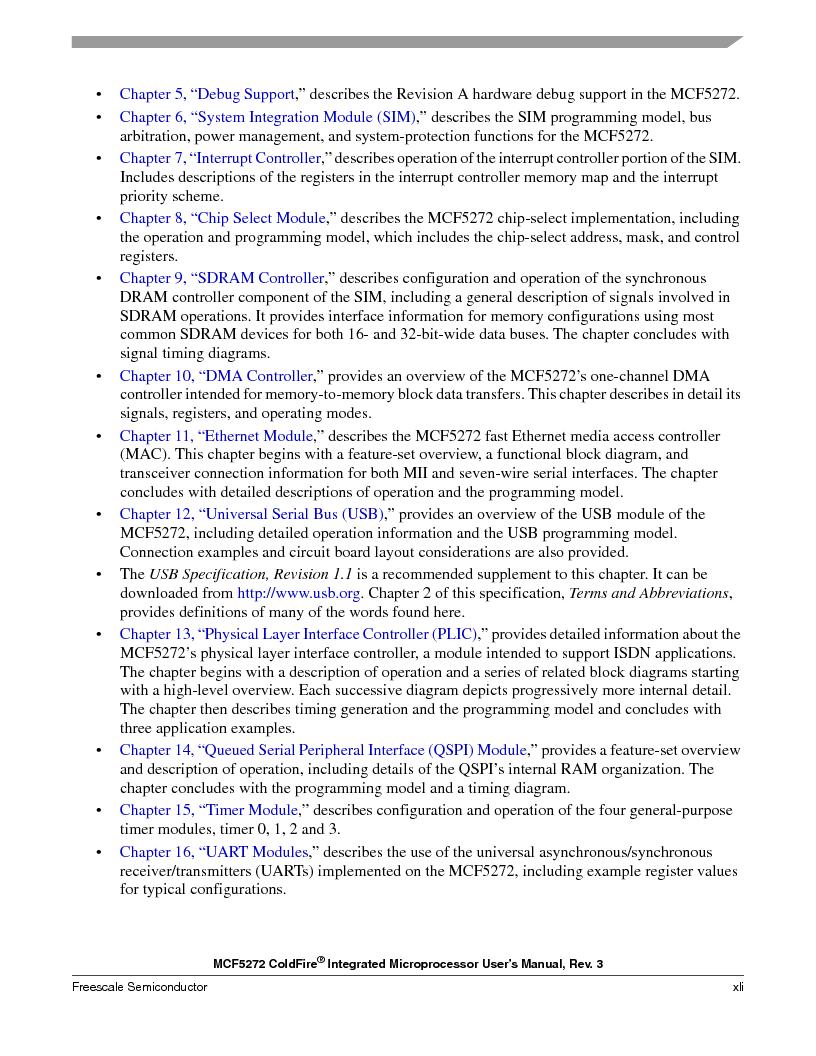 MCF5272VF66R2 ,Freescale Semiconductor厂商,IC MCU 32BIT 66MHZ 196-MAPBGA, MCF5272VF66R2 datasheet预览  第41页