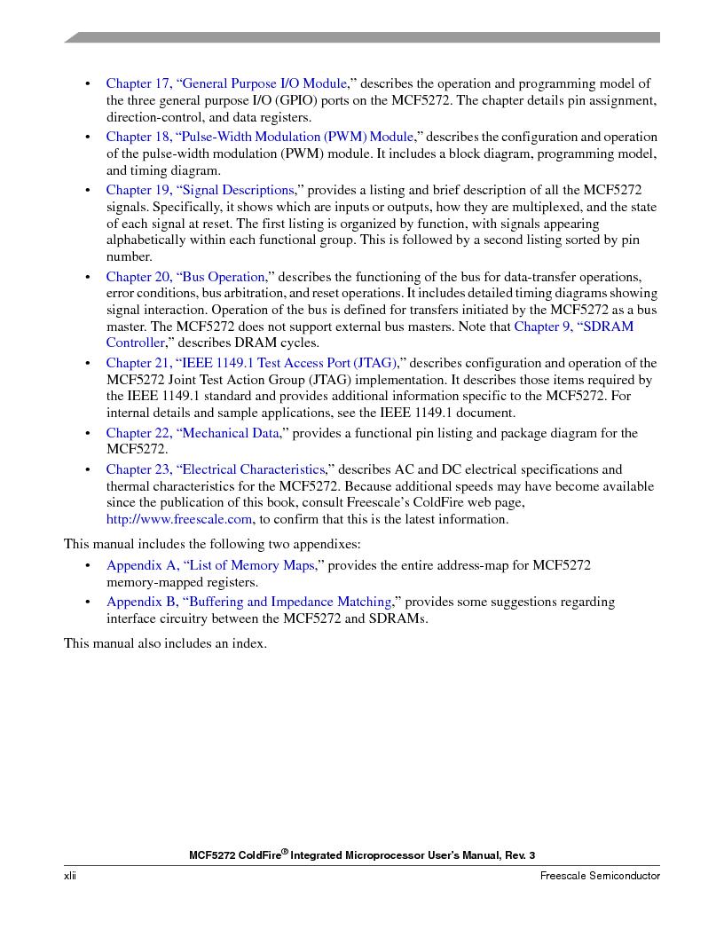 MCF5272VF66R2 ,Freescale Semiconductor厂商,IC MCU 32BIT 66MHZ 196-MAPBGA, MCF5272VF66R2 datasheet预览  第42页