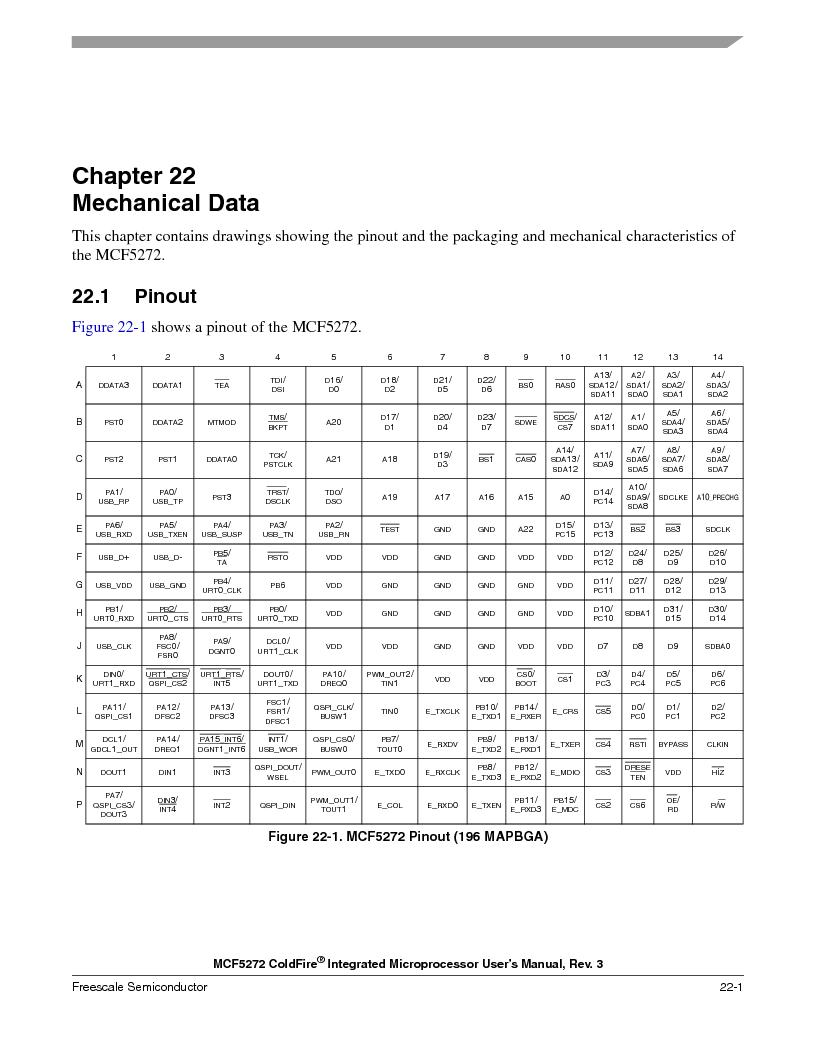 MCF5272VF66R2 ,Freescale Semiconductor厂商,IC MCU 32BIT 66MHZ 196-MAPBGA, MCF5272VF66R2 datasheet预览  第483页