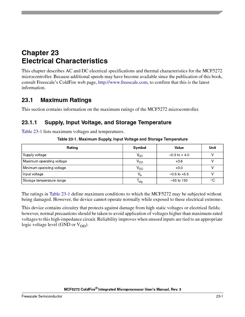 MCF5272VF66R2 ,Freescale Semiconductor厂商,IC MCU 32BIT 66MHZ 196-MAPBGA, MCF5272VF66R2 datasheet预览  第485页