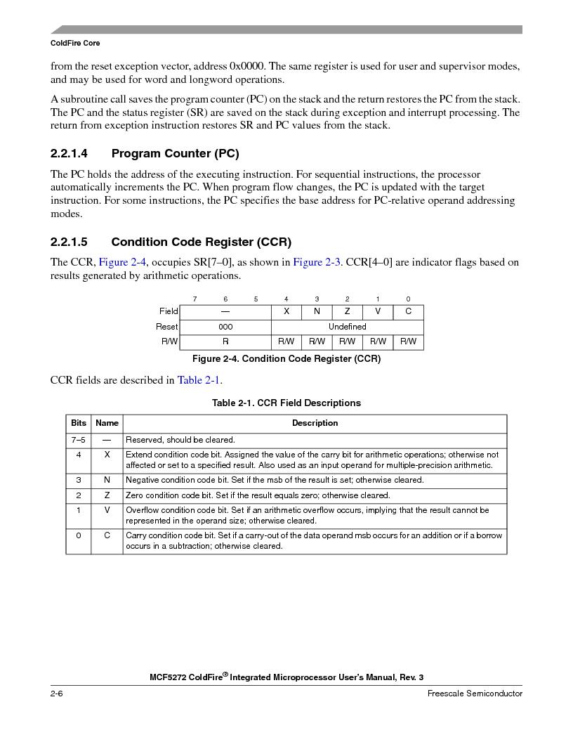 MCF5272VF66R2 ,Freescale Semiconductor厂商,IC MCU 32BIT 66MHZ 196-MAPBGA, MCF5272VF66R2 datasheet预览  第74页