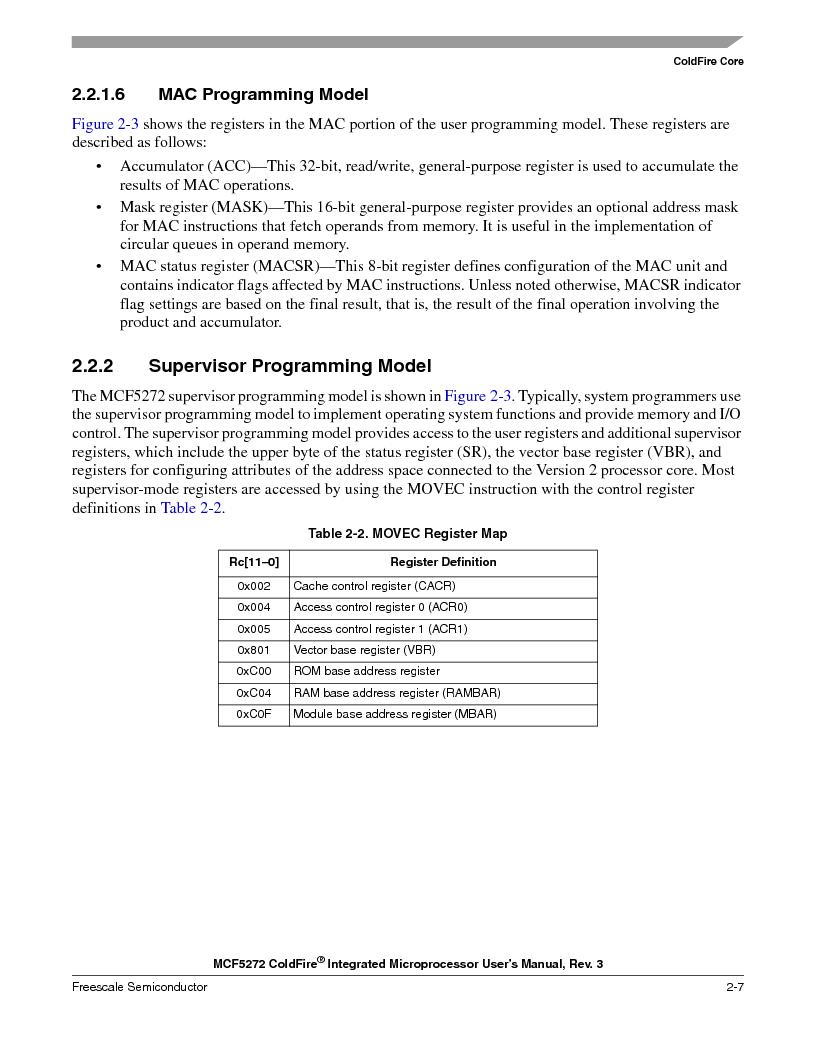MCF5272VF66R2 ,Freescale Semiconductor厂商,IC MCU 32BIT 66MHZ 196-MAPBGA, MCF5272VF66R2 datasheet预览  第75页