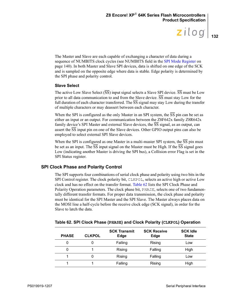 Z8F4823FT020EC ,Zilog厂商,IC ENCORE MCU FLASH 48K 80QFP, Z8F4823FT020EC datasheet预览  第146页
