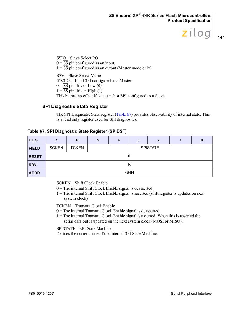 Z8F4823FT020EC ,Zilog厂商,IC ENCORE MCU FLASH 48K 80QFP, Z8F4823FT020EC datasheet预览  第155页