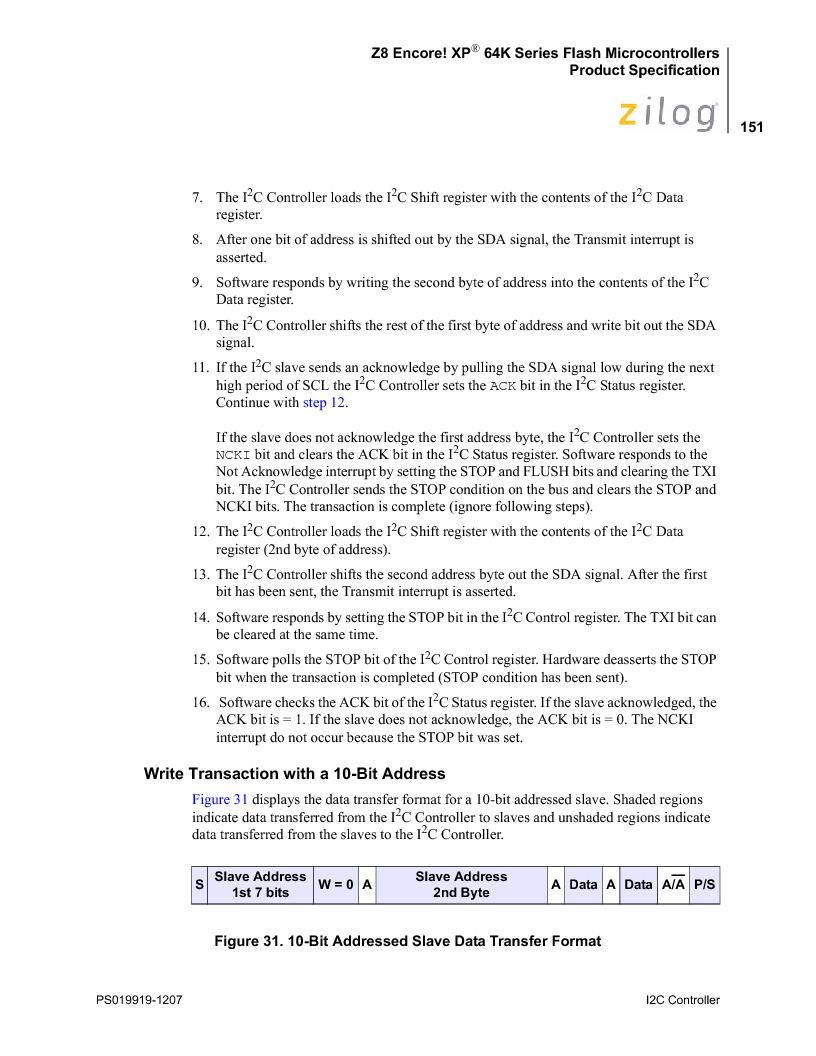 Z8F4823FT020EC ,Zilog厂商,IC ENCORE MCU FLASH 48K 80QFP, Z8F4823FT020EC datasheet预览  第165页