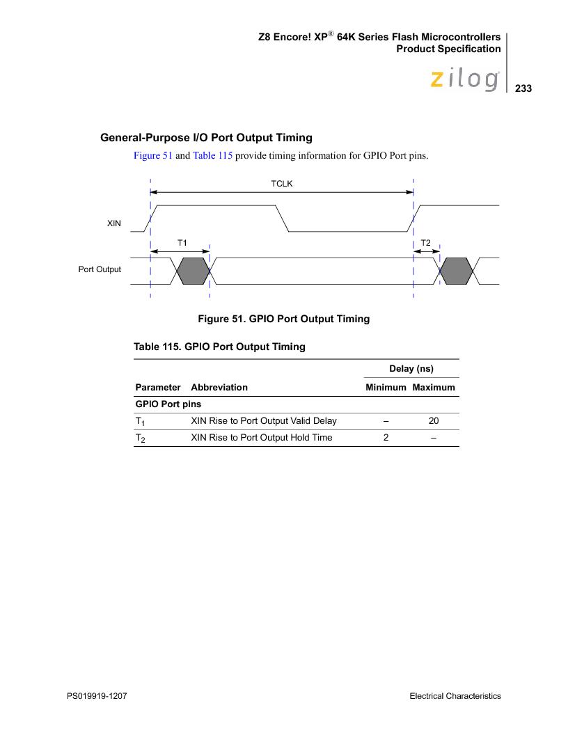 Z8F4823FT020EC ,Zilog厂商,IC ENCORE MCU FLASH 48K 80QFP, Z8F4823FT020EC datasheet预览  第247页