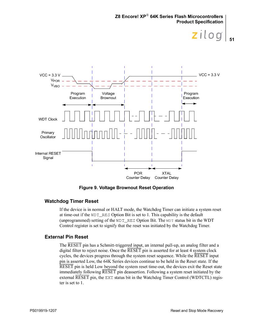 Z8F4823FT020EC ,Zilog厂商,IC ENCORE MCU FLASH 48K 80QFP, Z8F4823FT020EC datasheet预览  第65页