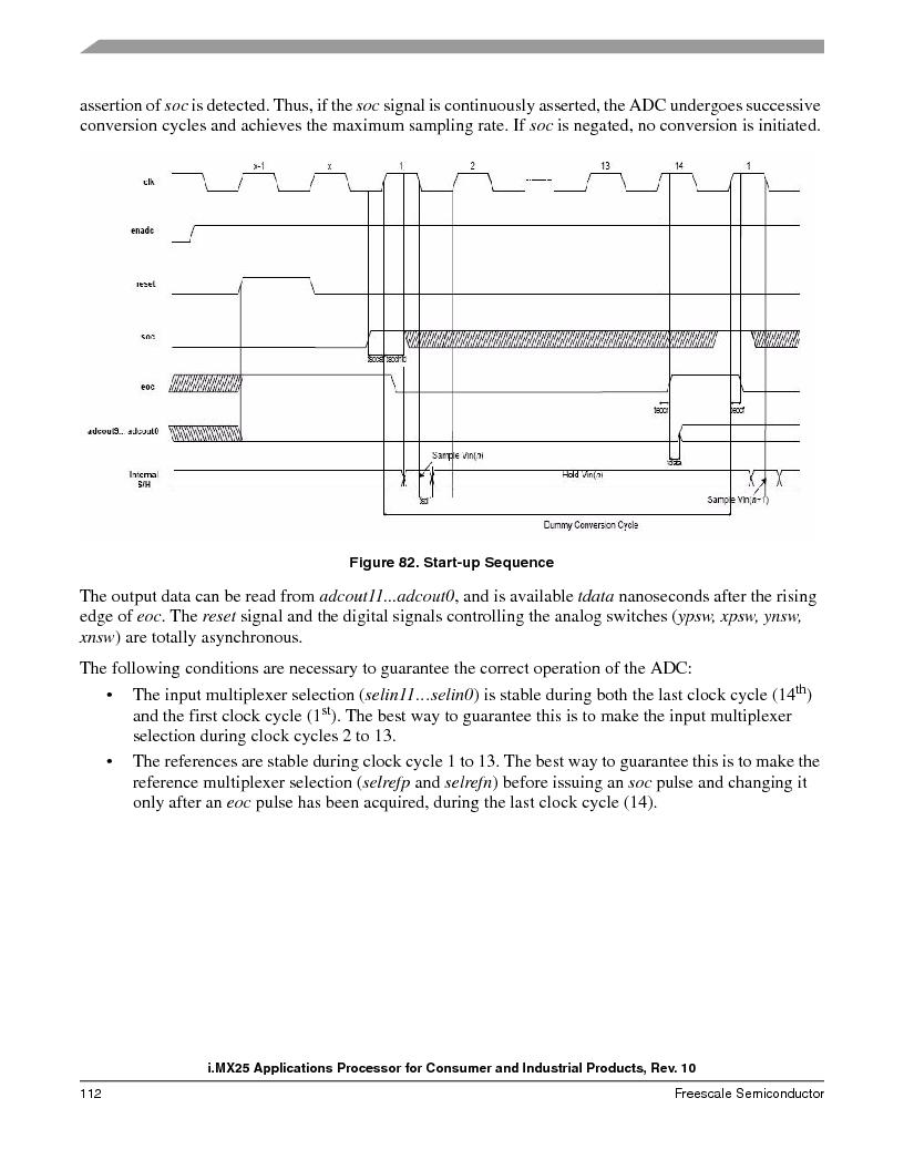 MCIMX253CVM4 ,Freescale Semiconductor厂商,IC MPU I.MX25 IND 400MAPBGA, MCIMX253CVM4 datasheet预览  第112页