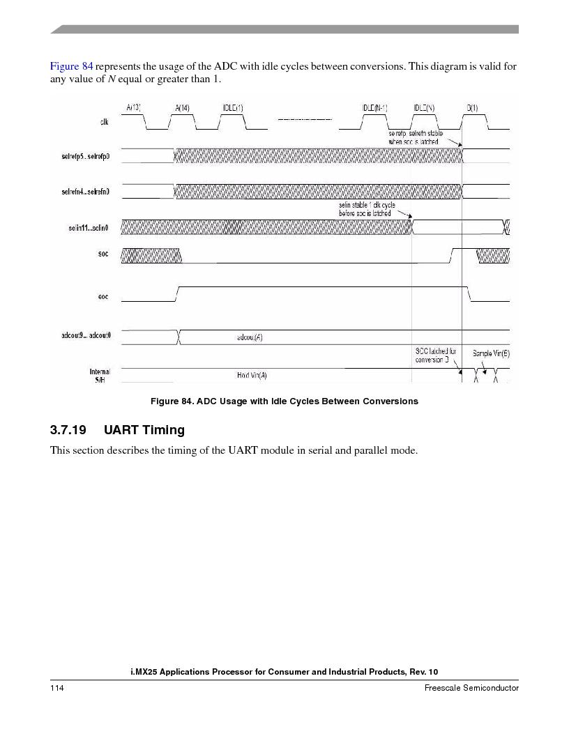 MCIMX253CVM4 ,Freescale Semiconductor厂商,IC MPU I.MX25 IND 400MAPBGA, MCIMX253CVM4 datasheet预览  第114页