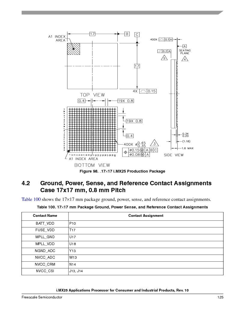 MCIMX253CVM4 ,Freescale Semiconductor厂商,IC MPU I.MX25 IND 400MAPBGA, MCIMX253CVM4 datasheet预览  第125页