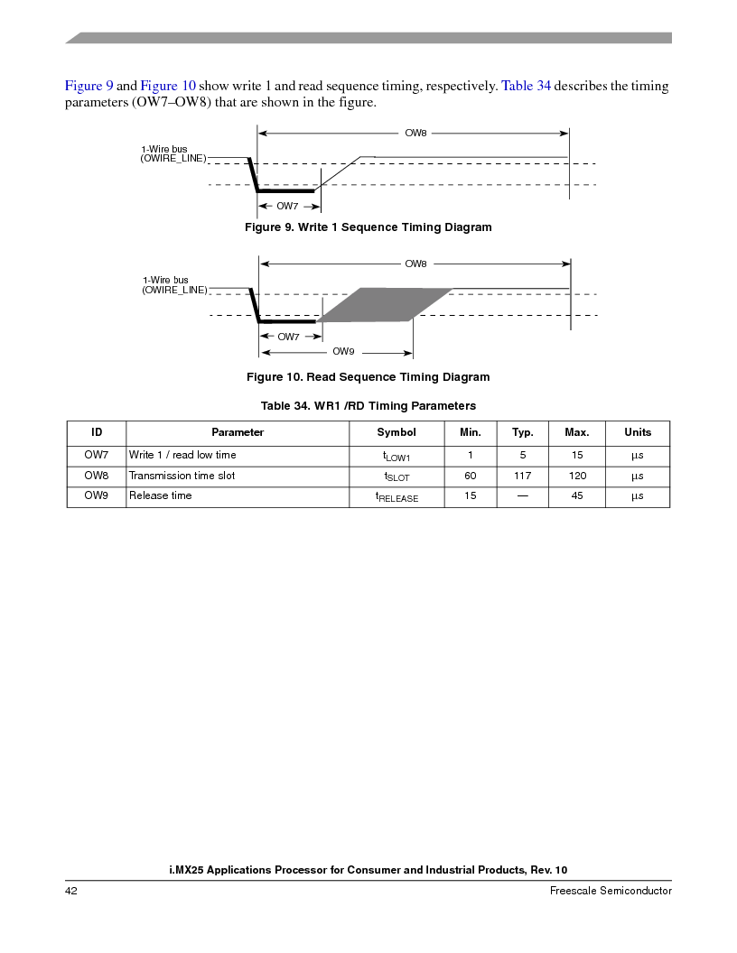MCIMX253CVM4 ,Freescale Semiconductor厂商,IC MPU I.MX25 IND 400MAPBGA, MCIMX253CVM4 datasheet预览  第42页