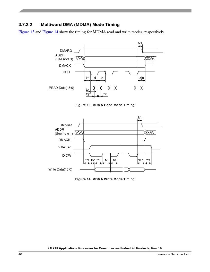 MCIMX253CVM4 ,Freescale Semiconductor厂商,IC MPU I.MX25 IND 400MAPBGA, MCIMX253CVM4 datasheet预览  第46页