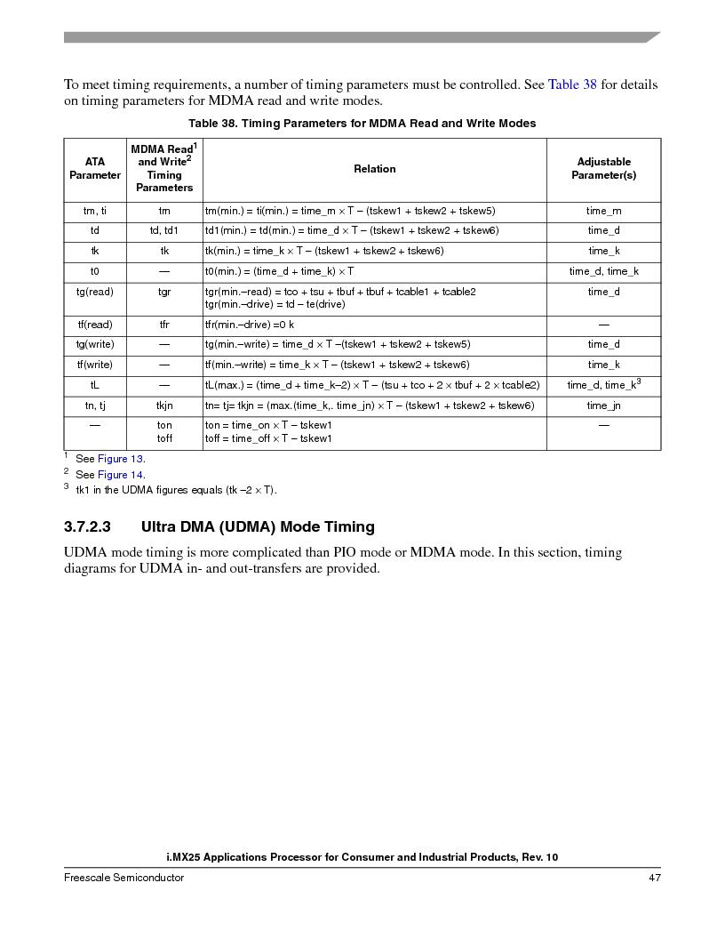 MCIMX253CVM4 ,Freescale Semiconductor厂商,IC MPU I.MX25 IND 400MAPBGA, MCIMX253CVM4 datasheet预览  第47页