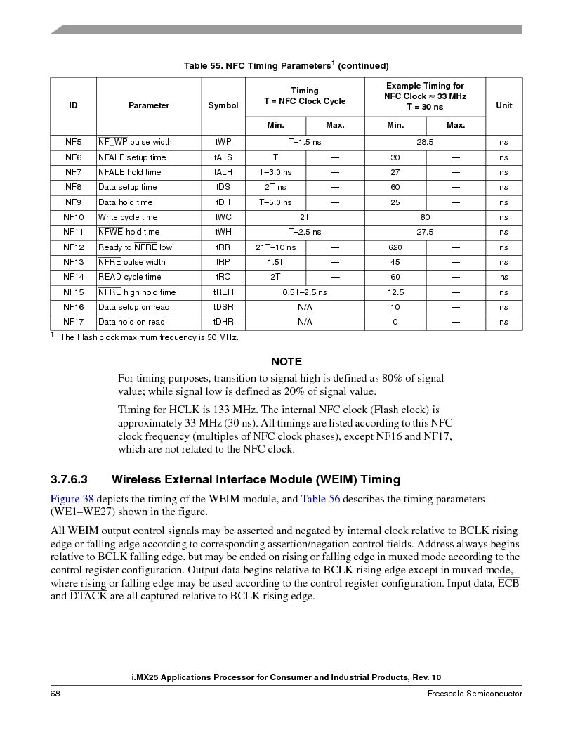 MCIMX253CVM4 ,Freescale Semiconductor厂商,IC MPU I.MX25 IND 400MAPBGA, MCIMX253CVM4 datasheet预览  第68页