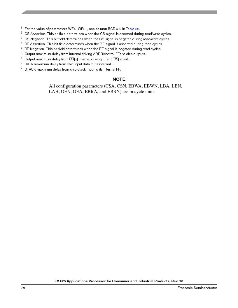 MCIMX253CVM4 ,Freescale Semiconductor厂商,IC MPU I.MX25 IND 400MAPBGA, MCIMX253CVM4 datasheet预览  第78页