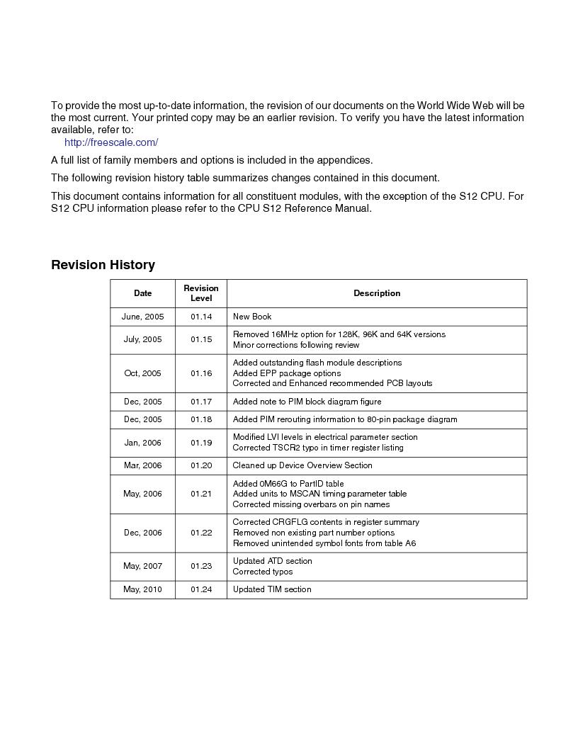 MC9S12GC96VFUE ,Freescale Semiconductor厂商,IC MCU 96K FLASH 25MHZ 80-QFP, MC9S12GC96VFUE datasheet预览  第2页