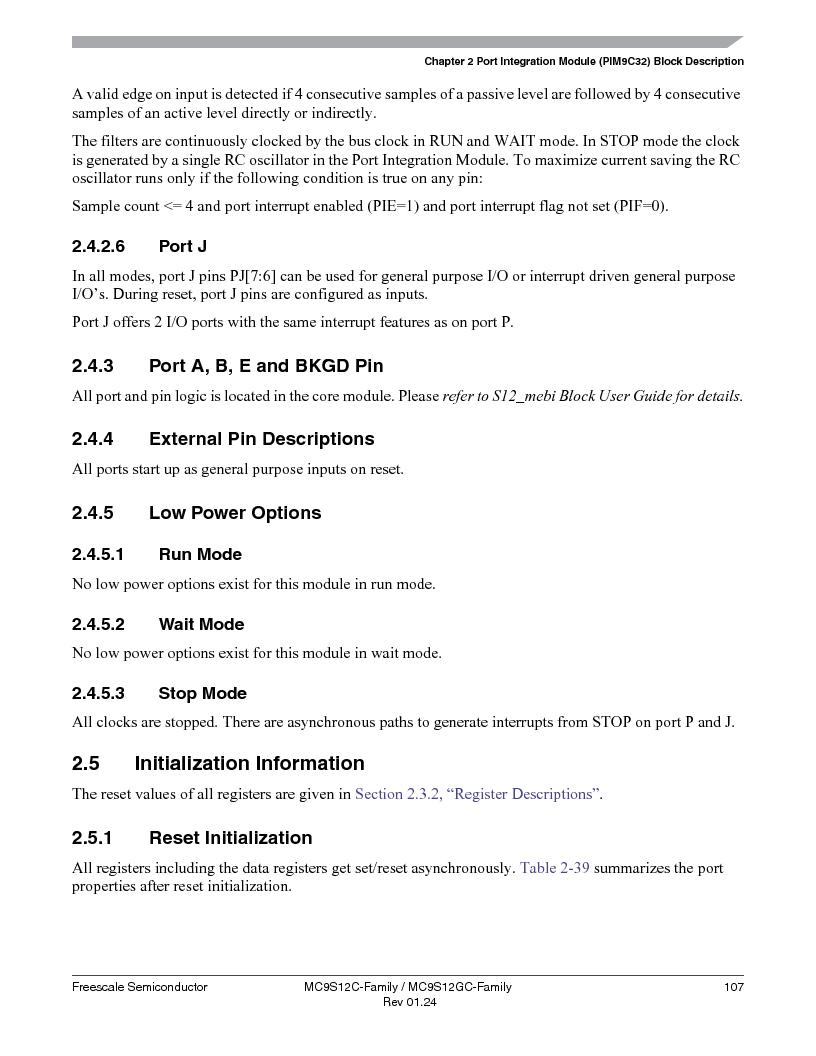 MC9S12GC96VFUE ,Freescale Semiconductor厂商,IC MCU 96K FLASH 25MHZ 80-QFP, MC9S12GC96VFUE datasheet预览  第107页