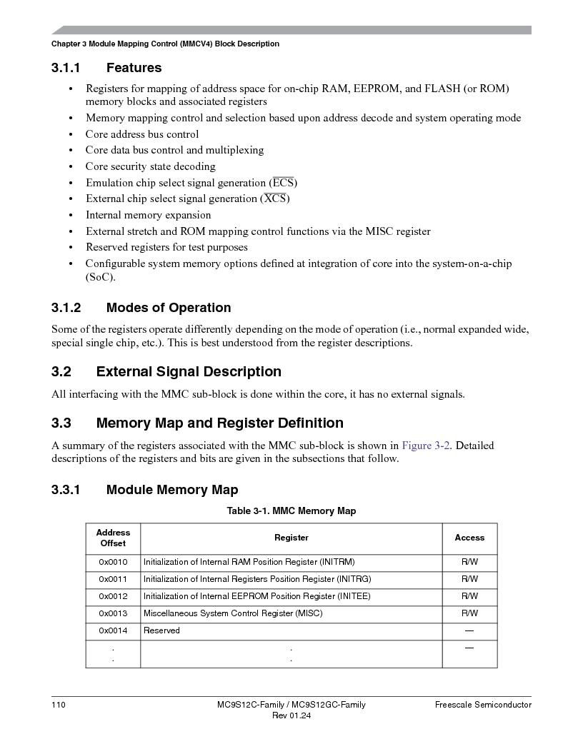 MC9S12GC96VFUE ,Freescale Semiconductor厂商,IC MCU 96K FLASH 25MHZ 80-QFP, MC9S12GC96VFUE datasheet预览  第110页