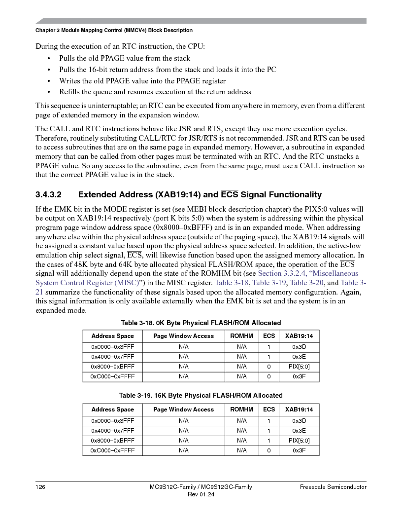 MC9S12GC96VFUE ,Freescale Semiconductor厂商,IC MCU 96K FLASH 25MHZ 80-QFP, MC9S12GC96VFUE datasheet预览  第126页